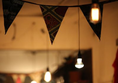 African fabric bunting